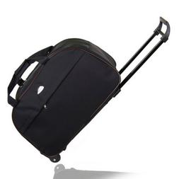 """24"""" Rolling Wheeled Duffle Bag Tote Carry On Travel Suitcase"""