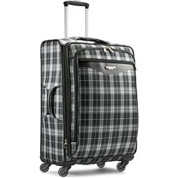 "American Tourister 25"" Plaid Fashion Softside Spinner Luggag"