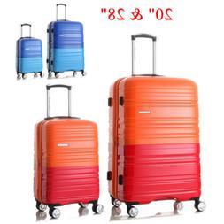 2Pcs Hard Shell Travel Luggage Set Spinner Hardside Suitcase