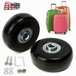2Pcs Luggage Suitcase Replacement Wheels Axles Repair Kit To
