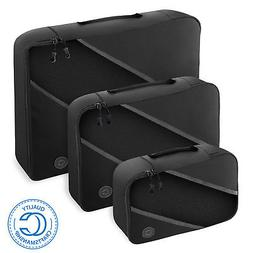 3 pc Packing Cubes Travel Suitcase Luggage Compression Bag O