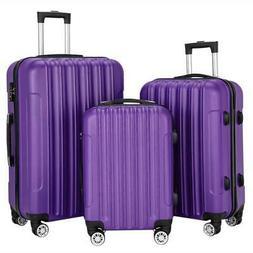 "3 Pcs 20""24""28"" Travel Luggage Set Bag Trolley Suitcase w/TS"