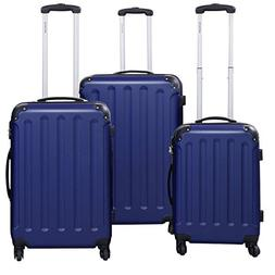 Goplus 3 Pcs Luggage Set Hardside Travel Rolling Suitcase AB