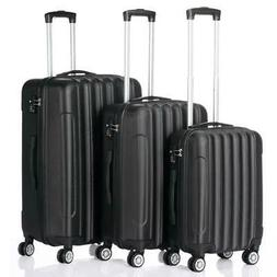 3 Pcs Luggage Travel Set Bag ABS Trolley Suitcase w/TSA Lock