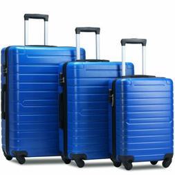 Flieks Hardside Luggage Set 3 Piece Lightweight ABS Spinner
