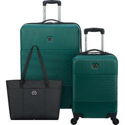 Delsey 3 Piece Hardside Spinner Luggage Set 2 Colors
