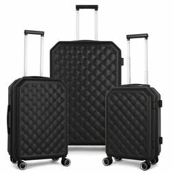 """3-Piece Luggage Set HardShell 20""""/24""""/28"""" with Spinners Lock"""