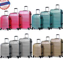 Dejuno 3-Piece Luggage Sets Cover Protector Hard Shell Lugga