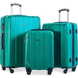 Merax 3 Piece P.E.T Luggage Set Eco-friendly Light Weight Sp
