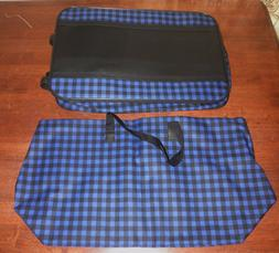 Unbranded 3-Piece Soft Sided Luggage Navy Blue/Black Roller/