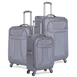 SwissGear 3 Piece Suitcase Set - Spinner Wheels - Softshell