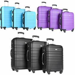 3 Piece Travel Luggage Set Lightweight Suitcase Spinner Hard