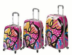 3 Piece Vision Hard Luggage Set Polycarbonate/ABS - Love