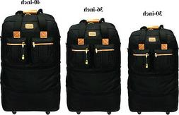 "30""/36""/40""Expandable Rolling Duffel Wheeled Spinner Suitcas"