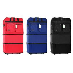 "30"" 36"" Rolling Wheeled Duffle Duffel Bag Spinner Suitcase L"