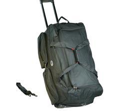 "30"" 50 LB Capacity Rolling Wheeled Duffle Bag  Suitcase Trav"