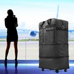 "30"" Rolling Wheeled Duffel Bag Spinner Suitcase Luggage Expa"