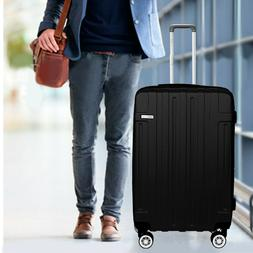 NEW Luggage Cabin Suitcase Set Carry On BLACK ABS Spinner Li