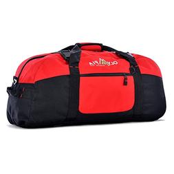 30 Polyester Sports Duffel - Color: Red