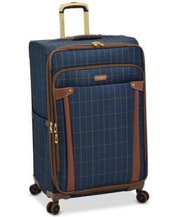 "$360 New London Fog Brentwood 29"" Soft Case Blue Suitcase Lu"