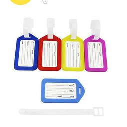 3PC Pack Multi-Colors Luggage Tags Travel Suitcase Labels Ba