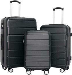 "3Pcs 20/24/28"" Travel Luggage Set Trolley Spinner Suitcase B"