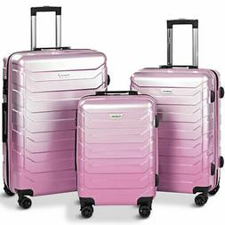 3PCS Luggage Set Expandable Suitcase PC+ABS Spinner W/TSA Lo