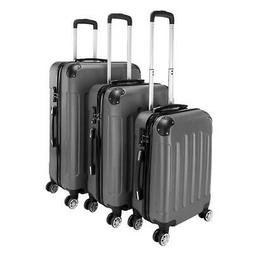 3pcs luggage set pc abs trolley spinner