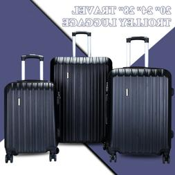 3Pcs Luggage Travel Set Bag ABS Trolley Spinner Carry on Sui