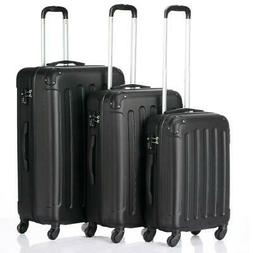 3x Travel Spinner Luggage Set Bag ABS Trolley Carry On Suitc