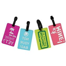 4 Funny unique Travel Luggage Bag Tag Suitcase Baggage Name