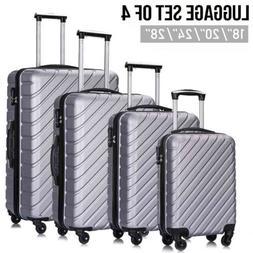 4 Hardshell Lightweight ABS Spinner Luggage Set Suitcase 18'