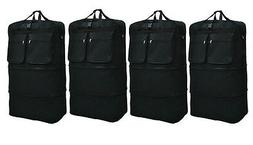 "4-Pack 36"" Black Rolling Wheeled Duffle Expandable Bag Spinn"
