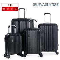 4 Piece ABS Luggage Set Light Travel Case Hardshell Suitcase