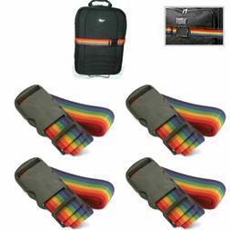4 Travel Luggage Suitcase Strap Baggage Backpack Bag Rainbow