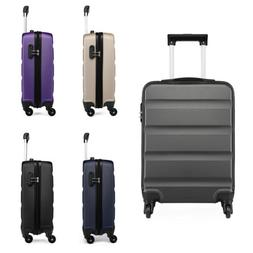 4 Wheels Cabin Luggage Travel Suitcase Lightweight Hand Lugg