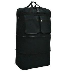 "40"" Black Rolling Wheeled Duffle Bag Spinner Suitcase Luggag"