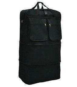 "40"" Black Rolling Wheeled Duffle Bag Spinner Suitcase Luggag"