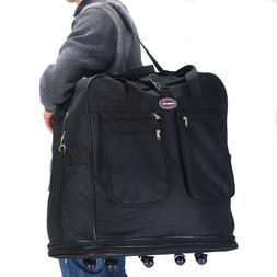 "40"" Rolling Wheeled Duffel Bag Spinner Suitcase Travel Lugga"