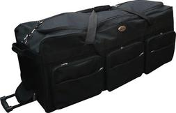 """42"""" Polyester Rolling Duffle Bag Wheeled Travel Luggage Suit"""