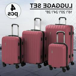 4PCS Luggage Set Travel Bag  360° Spinner Wheels Carry On S