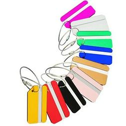 5/10pcs Aluminium Travel Luggage Tags Suitcase Label Name Ad