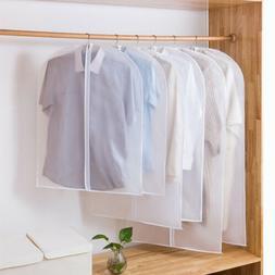 5/10x Clear Suit Cover Hanging Garment Storage Bag Dress Clo