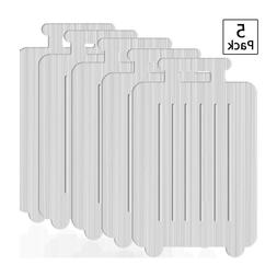 5-Pack Aluminum Brushed Metal Finish Travel Luggage Tags w/