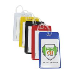 5 Pack - Backpack ID Tags - Bold Colors for Bag & Airline Lu