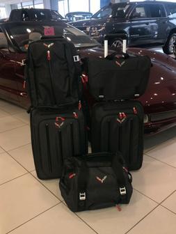 5-Piece C7 Corvette Luggage Set, Genuine GM Accessory Part N