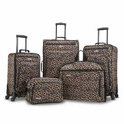 5 Piece Travel Spinner Luggage Set Bag ABS Trolley Carry On