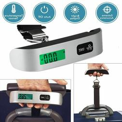 50kg/10g Portable Travel LCD Digital Hanging Luggage Scale E