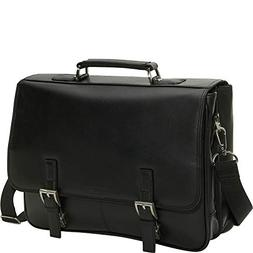 Kenneth Cole Reaction Genuine Leather Dual Compartment Flapo
