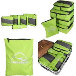 5Pc Packing Cubes Set LARGE Travel Luggage Organizer 4 1 Lau